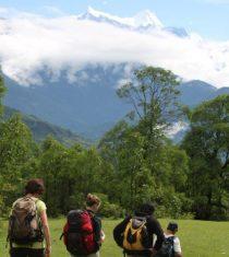 A family hiking tour