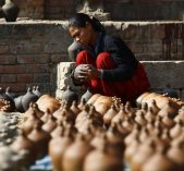 Pottery Making in Nepal as a daily life