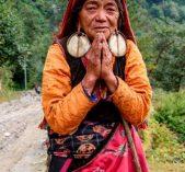 Tamang women greeting on the way to Tamang heritage