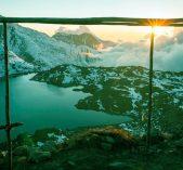 A sunset view nearby Gosainkunda Lake